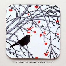Winter Berries coaster