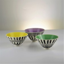 Colour&Pattern footed bowl