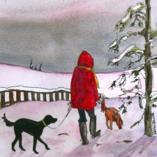 dog walk in the snow for web SQUARE