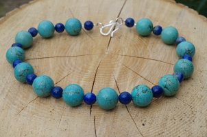 Howlite & Lapis Lazuli necklace