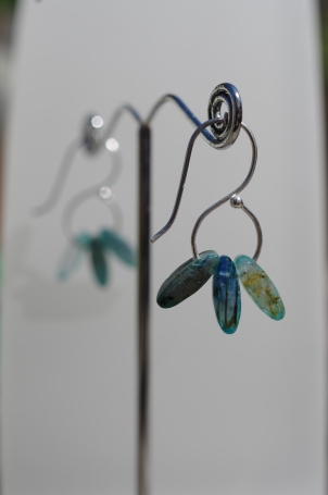 Silver and Kyanite Earrings