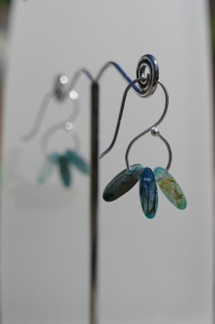 Silver and Kyanite Earrings