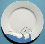 Blue bather plate