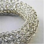 french knit silver bangle(1)