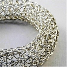 french knit silver bangle (1)