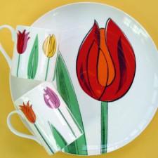 Tulip plate and mug