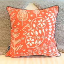 Edward Squirrel cushion orange - Mabel Fox - Q59